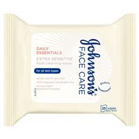 Johnson & Johnson Daily Essentials Fragrance Free 25 Wipes