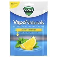 Vicks VapoNaturals Lemon Menthol Re-seal Bag 19