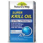 Nature's Way Super Krill Oil Plus 500mg Krill + 335mg Fish Oil 30 Capsules