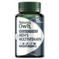 Nature's Own Men's Multivitamin Mega Potency 60 Tablets