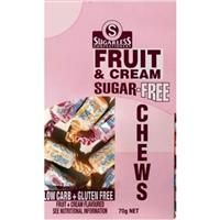 Sugarless Chews Fruit Cream 70g