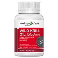 Healthy Care Wild Krill 1500mg 30 Capsules
