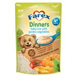 Farex Dinners Baby Rice With Garden Vegetables 4+ Months 110g