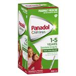Panadol Children 1-5 Years Suspension Fever & Pain Relief Strawberry Flavour 200mL
