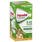 Panadol Children 5-12 Years Suspension Fever & Pain Relief Orange Flavour 200mL