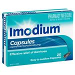Imodium 2mg Capsules 20 Pack