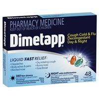 Dimetapp Day & Night PE Cough 48 Liquid Capsules
