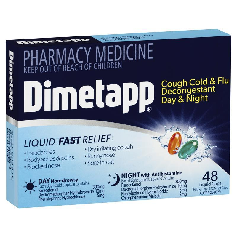 Buy Dimetapp Day & Night PE Cough 48 Liquid Capsules