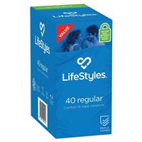 LifeStyles Condoms Regular 40 Pack