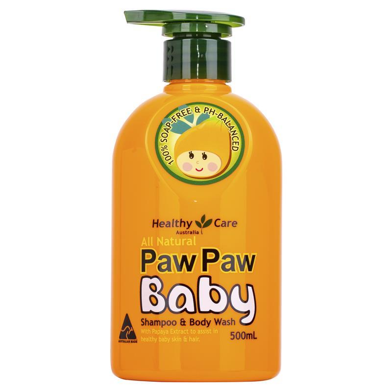 Healthy Care All Natural Paw Paw Baby Shampoo Wash 500ml
