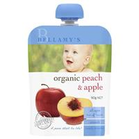 Bellamy's Organic Peach & Apple 90g