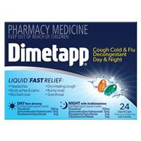 Dimetapp Day & Night PE Cough 24 Liquid Capsules