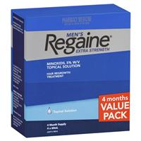Regaine Men's Extra Strength Hair Regrowth Treatment 4 x 60mL