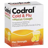 Codral Relief 6 Signs Hot Drink 10 Sachets