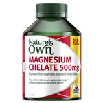 Nature's Own Magnesium Chelate 500mg 250 Tablets Exclusive Pack