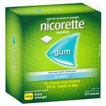 Nicorette Quit Smoking Extra Strength Coated Icy Mint Chewing Gum 4mg 210 Pieces