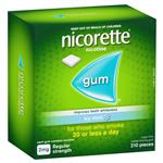 Nicorette Quit Smoking Regular Strength Icy Mint Chewing Gum 2mg 210 Pieces