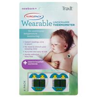 Surgipack TraxIt Wearable Underarm Thermometer 4 Pack