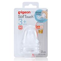Pigeon SofTouch Peristaltic Plus Wide Neck Teat M 2 Piece