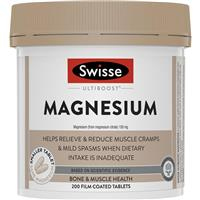 Swisse Ultiboost Magnesium 200 Tablets Exclusive Size