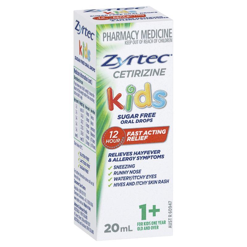 Buy Zyrtec Kids Oral Drops 20ml Online At Chemist Warehouse 174