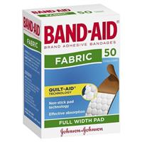 Band-Aid Adhesive Bandages Fabric 50
