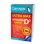 Carusos Natural Health Ultra Max D 1000IU 250 Capsules
