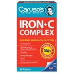 Carusos Natural Health Ultra Max Iron + C Complex 30 Tablets