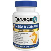 Carusos Natural Health Ultra Max Mega B Complex 60 Tablets
