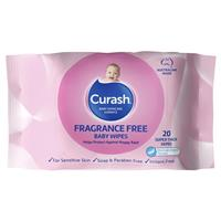 Curash Travel Wipes Fragrance Free 20 Pack
