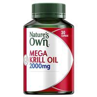 Nature's Own Mega Krill Oil 2000mg 30 Capsules