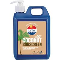 Le Tan SPF 50+ Coconut Sunscreen 1L