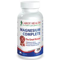 Cabot Health HD Magnesium Complete 200 Tablets
