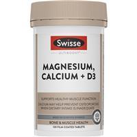 Swisse Ultiboost Magnesium Calcium + Vitamin D 120 Tablets