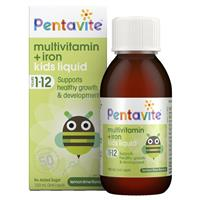 Pentavite Multivitamins Liquid with Iron 100ml - Children 1-12 years