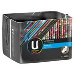 U By Kotex Designer Series Ultrathins Pads Wing Regular 22 Pack