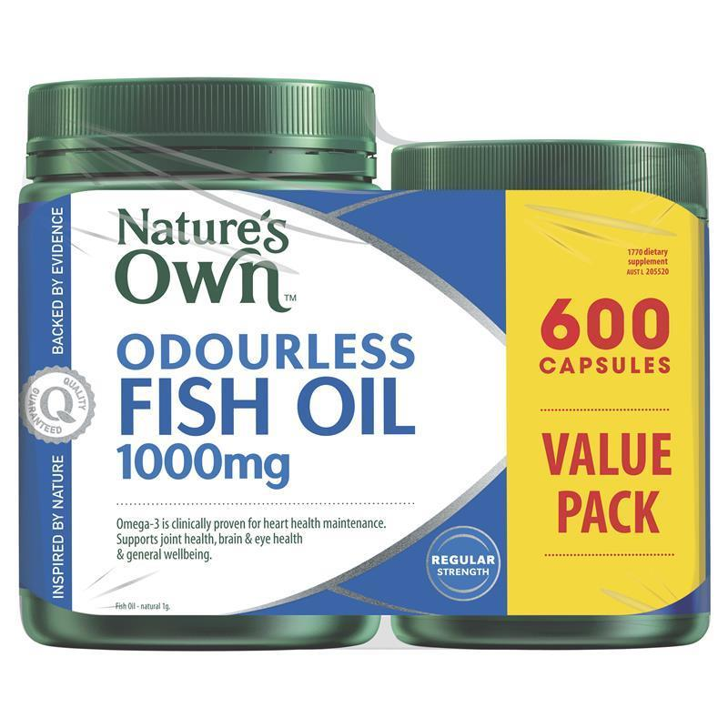 Nature S Own Odourless Fish Oil Capsules Mg  Exclusive Pack