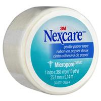 Nexcare Micropore Gentle Paper Tape White 25.4mm x 9.14m