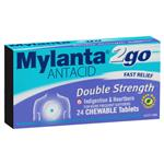 Mylanta 2go Double Strength Chewable Tablets 24
