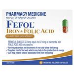 Fefol Iron & Folate Supplement 60 Capsules