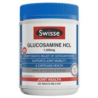 Swisse Ultiboost Glucosamine HCL 1500mg 250 Tablets Exclusive Size