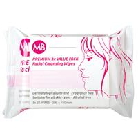 My Beauty Facial Cleansing Wipes 3 x 25 Pack