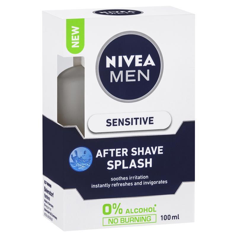 buy nivea for men sensitive after shave splash 100ml