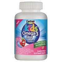 Centrum Kids Omega-3 Plus 60 Capsules