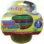 Nuby Wash Or Toss Bowls With Lid 4 Pack