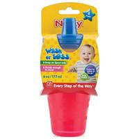Nuby Wash Or Toss Cups With Sipper Spout 4 Pack