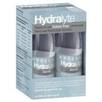 Hydralyte Liquid Colour Free Lemonade Flavoured (4x250ml) Solution