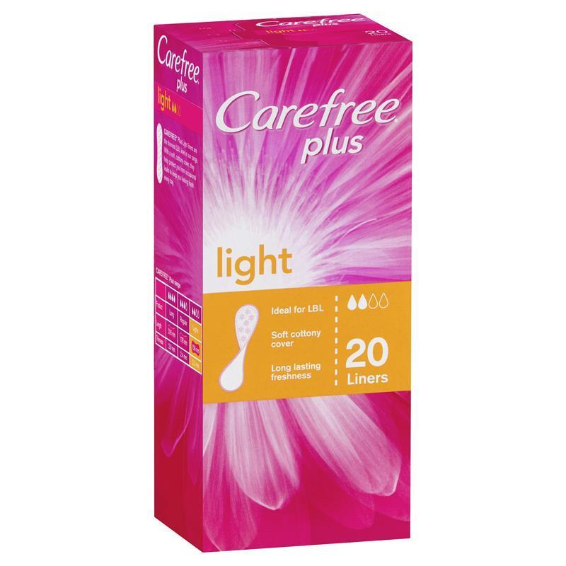Buy carefree plus light 20 liners online at chemist warehouse for Lighting plus online