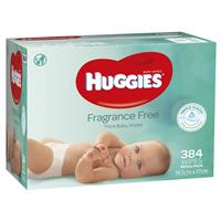 Huggies 384 Wipes Unscented