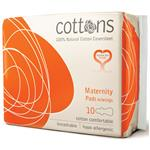 Cottons Maternity Pads With Wings 10 Pack